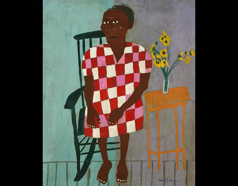 Aunt Alice, 1944. William H. Johnson (American, 1901–1970). Oil on compressed cardboard; 85.7 x 72.4 cm. Courtesy Morgan State University