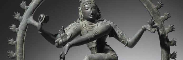 Nataraja, Shiva as the King of Dance (detail), 1000s. South India, Chola period (900-13th Century). Bronze; 111.5 x 101.65 cm. Purchase from the J. H. Wade Fund 1930.331