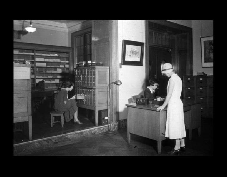 Lantern Slide Department, 1931.