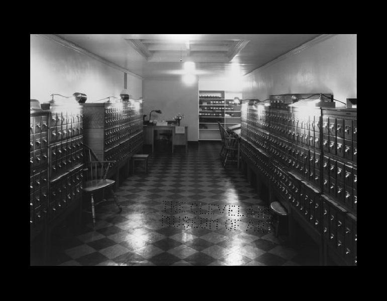 Lantern Slide Department, 1937.