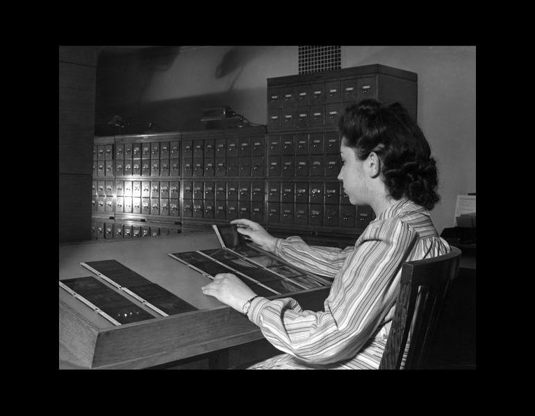 Lantern Slide Department, 1941.