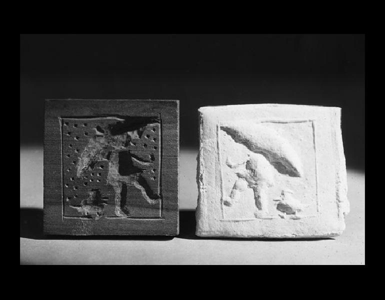 1934 Woodcarving; cooky mold; by pupil of Fairmount Jr. High school.