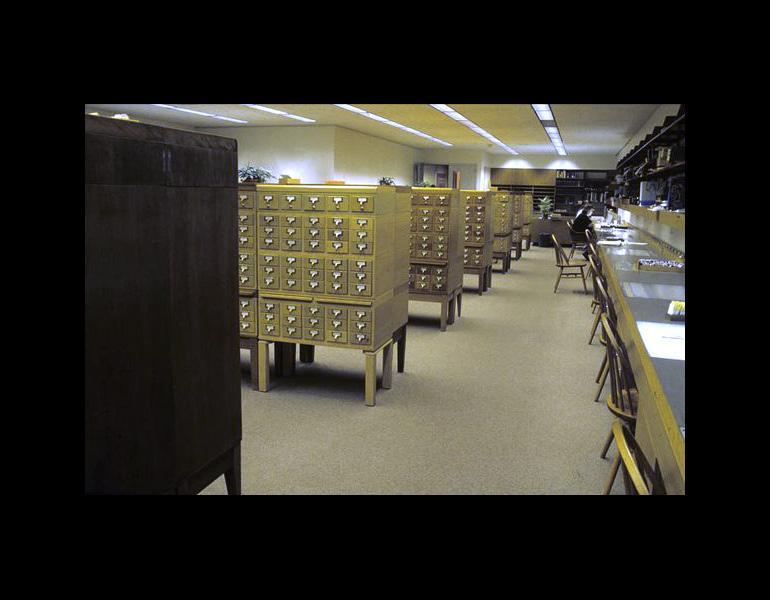 Slide Library, c. 1984.