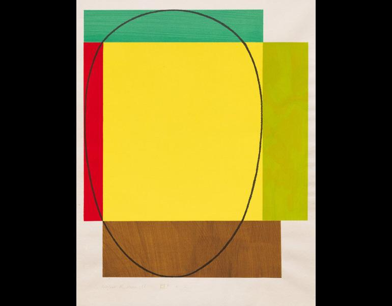 Five Color Frame, 1985. Robert Mangold (American, b. 1937). Woodcut; 86.4 x 66 cm. The Cleveland Museum of Art, John L. Severance Fund 1990.78. © 2013 Robert Mangold / Artists Rights Society (ARS), NY.