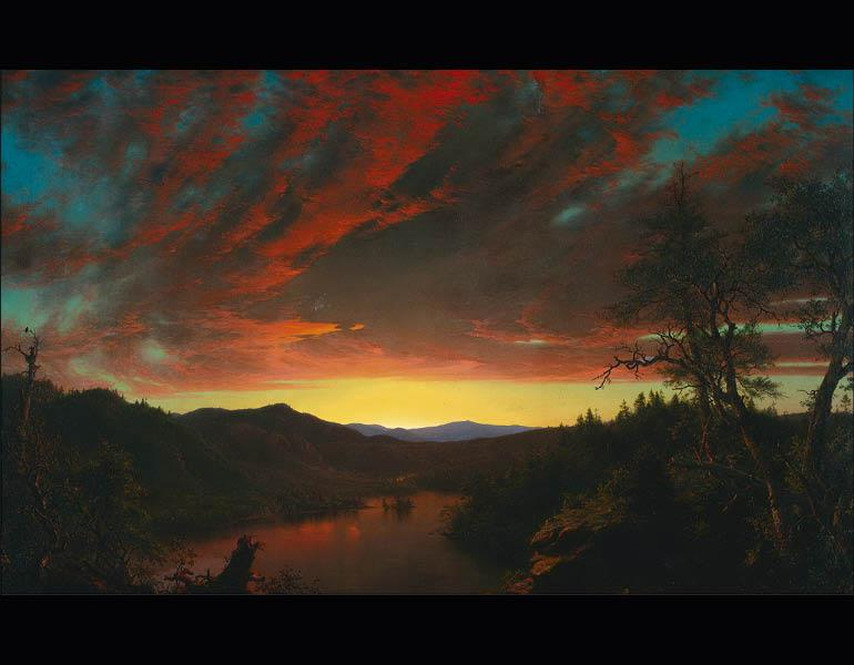 Twilight in the Wilderness, 1860. Frederic Edwin Church (American, 1826–1900). Oil on canvas; 101.6 x 162.6 cm. The Cleveland Museum of Art, Mr. and Mrs. William H. Marlatt Fund 1965.233.