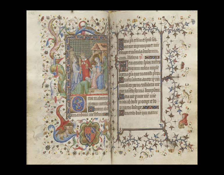 Hours of Charles the Noble, King of Navarre (1361–1425 ), 1404–5. Master of the Brussels Initials and Associates (French, Paris). Tempera and gold on vellum. Mr. and Mrs. William H. Marlatt Fund 1964.40