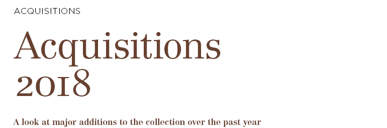2019 Accessions