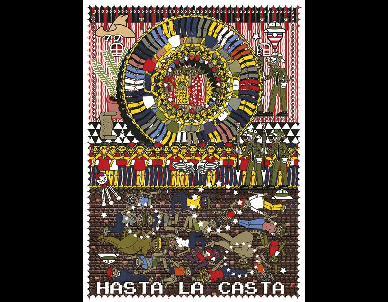 Hasta La Casta, 2017. Michael Menchaca (American, born 1985). Screenprint; image: 60 cm x 43.8 cm; sheet: 70.6 cm x 54.1 cm. Printed and published by Overpass Projects, Providence, RI. © Michael Menchaca. Image courtesy of the artist and Overpass Projects