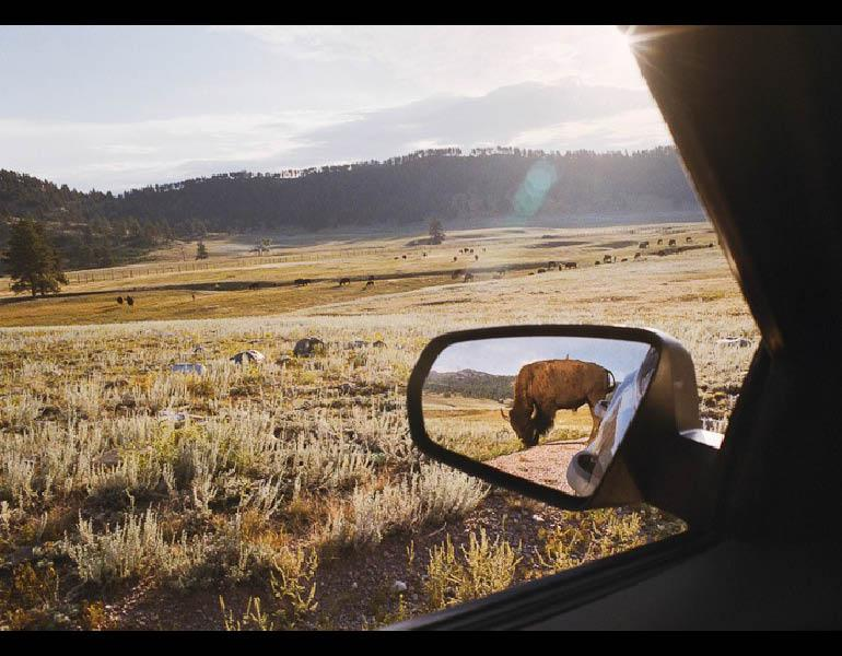 Rearview Mirror, from My Dakota, 2005–11. Rebecca Norris Webb (American, born 1956). Type- C Photographic Print, 26 x 35 ½ in. Courtesy of the artist.