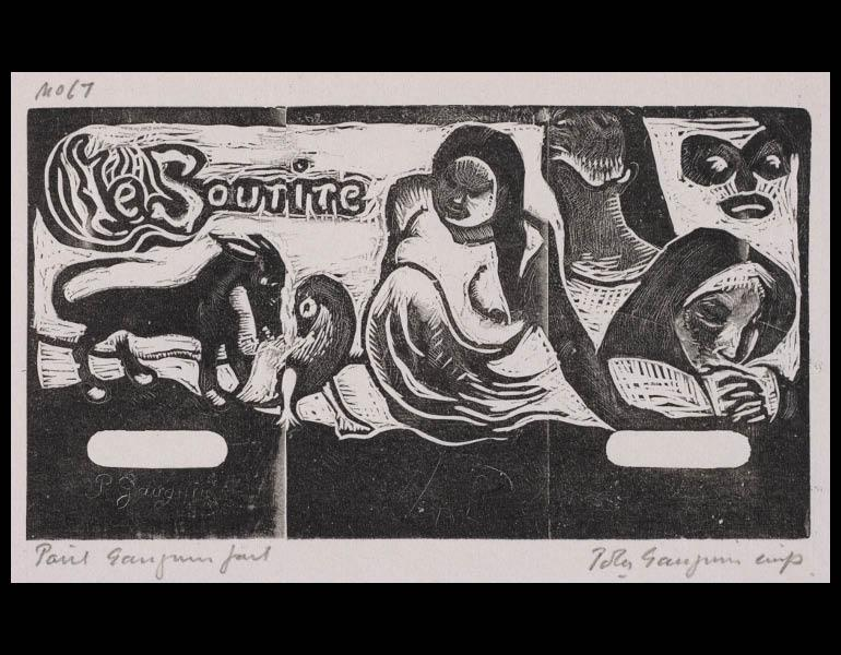 Paul Gauguin (French, 1848-1903). Tahitian Series: The Smile. Woodcut. 1929.878.1.