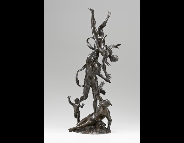 The Fall of Icarus, early 1700s. Francesco Bertos (Italian, 1678–1741). Bronze, 59.7 x 30.5 cm. Allen Memorial Art Museum. Oberlin College, Oberlin, OH, Mrs. F.F. Prentiss Fund, Friends of Art Endowment Fund and Special Acquisitions Fund 1971.52