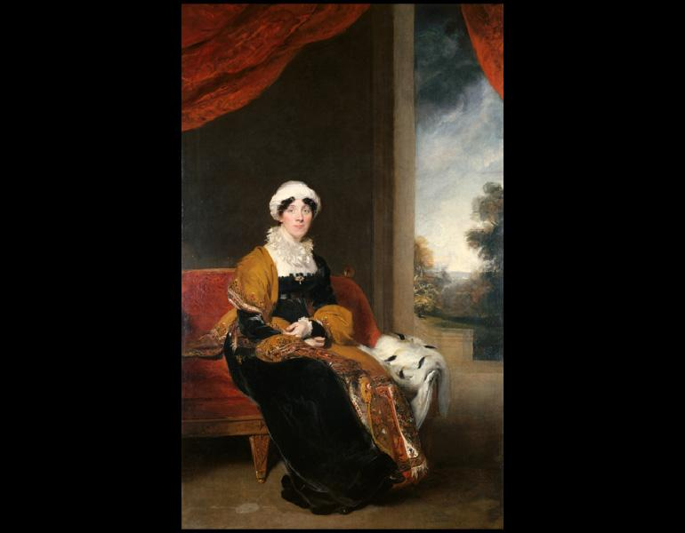 Portrait of Eleanor, Lady Wigram, 1815–16. Thomas Lawrence (British, 1769–1830). Oil on canvas; 240 x 148.4 cm. Allen Memorial Art Museum, Oberlin College, Oberlin, Ohio, R. T. Miller Jr. Fund and Mrs. F. F. Prentiss Fund in memory of Chloe Hamilton Young 1986.17