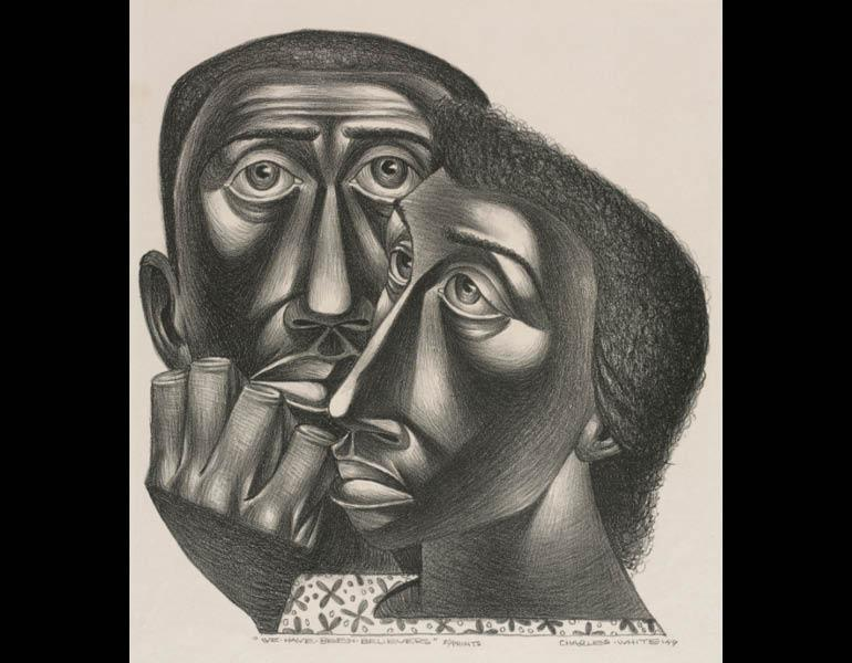 We have been believers 1949 charles white american 1918 1979 lithograph 40 5 x 30 2 cm the cleveland museum of art john l severance fund 2001 50