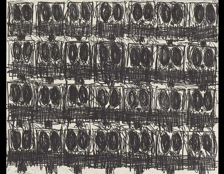 Untitled Anxious Crowd. By Rashid Johnson. CMA, 2020.78