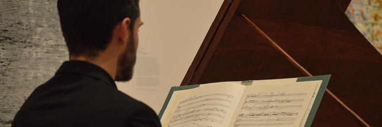 Chamber Music in the Galleries. Photo by Nathanael Garrett