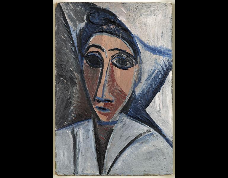 Bust of Woman or Sailor (Study for 'Les Demoiselles d'Avignon')