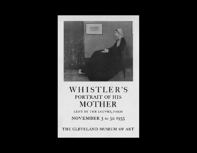 Advertisement for the November 1933 exhibition of Whistler's Mother. Photograph Collection, CMA Archives.