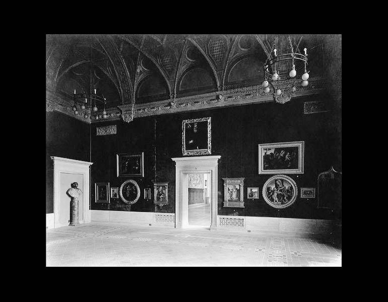 Gallery 204 as originally designed to house the Holden collection of Italian pictures, 1916. Registrar's Gallery Views, CMA Archives.