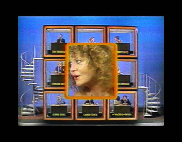 Kiss the Girls: Make Them Cry (still), 1979. Dara Birnbaum (American, born 1946). Color video, sound; 6:50 min. Courtesy of the artist and Electronic Arts Intermix (EAI), New York.
