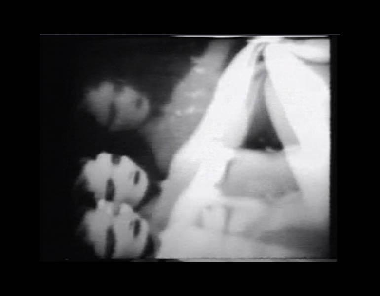 Vertical Roll (still), 1972. Joan Jonas (American, born 1936). Black-and-white video, sound; 19:37 min. Image copyright of the artist, courtesy of Video Data Bank (www.vdb.org).