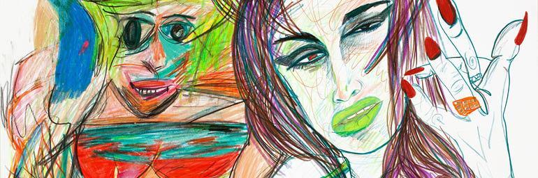 Untitled (detail), 2011. Rachel Harrison (American, b. 1966). Colored pencil on paper; 56.8 x 70.8 cm. Private collection, New York. Courtesy Greene Naftali, New York. Photo: John Berens.