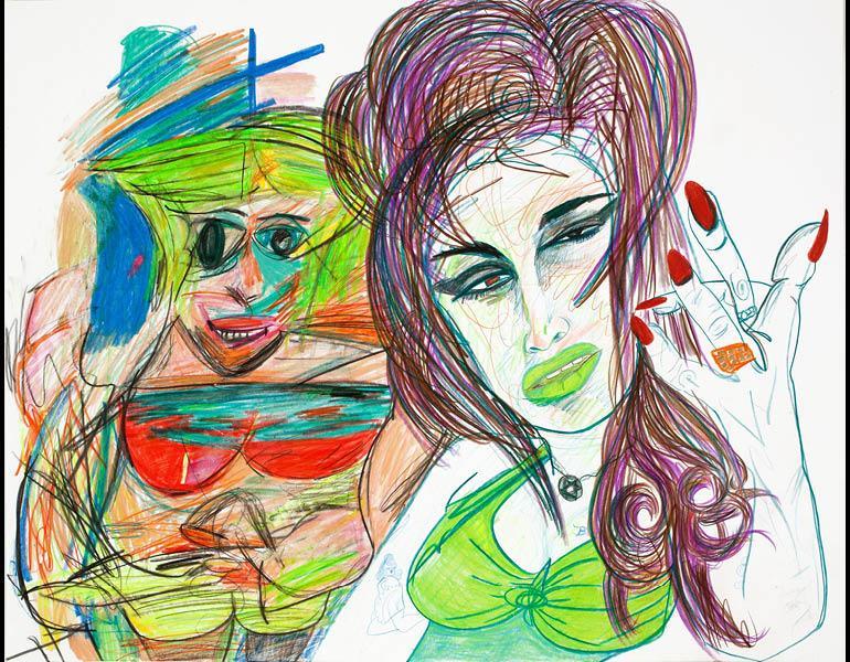 Untitled, 2011. Rachel Harrison (American, b. 1966). Colored pencil on paper; 56.8 x 70.8 cm. Private collection, New York. Courtesy Greene Naftali, New York. Photo: John Berens.