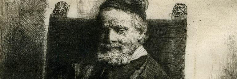 Jan Lutma, Goldsmith (detail), 1656. Rembrandt van Rijn (Dutch, 1606–1669). Etching and drypoint on vellum; 19.6 x 15 cm. The Morgan Library & Museum, Acquired by J. Pierpont Morgan, 1905. Photo: Graham S. Haber, 2011