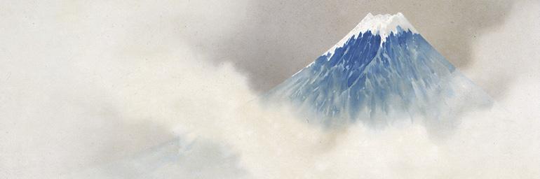 Cloisonné Plaque with Mount Fuji (detail), 1893 (Meiji 26). Namikawa Sōsuke (1847–1910). Cloisonné; 113.6 x 64 cm. Tokyo National Museum, G-603. Important Cultural Property