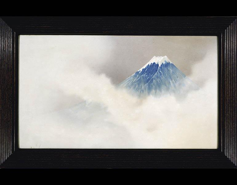 Cloisonné Plaque with Mount Fuji, 1893 (Meiji 26). Namikawa So ̄ suke (1847–1910). Cloisonné; 113.6 x 64 cm. Tokyo National Museum, G-603. Important Cultural Property