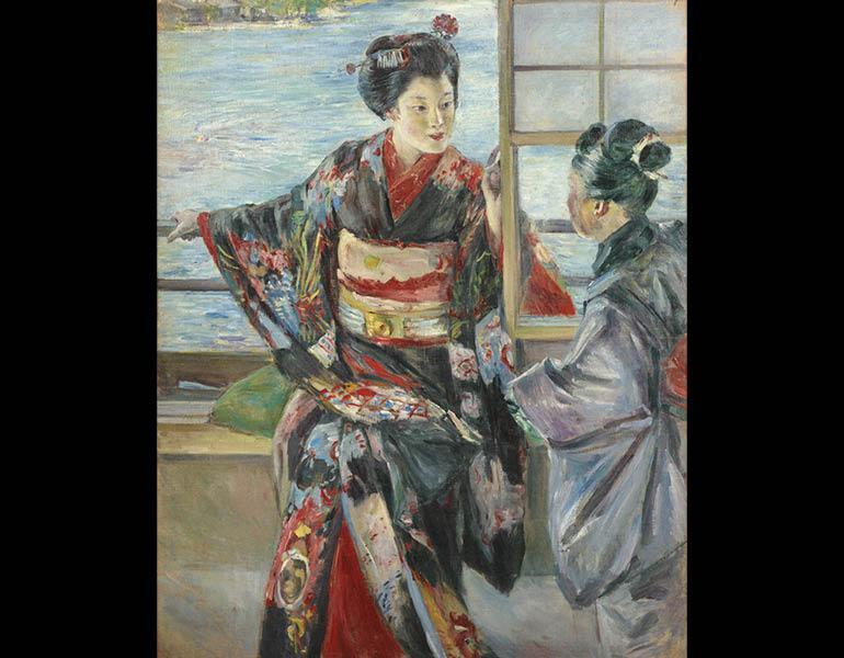 Maiko Girl, 1893 (Meiji 26). Kuroda Seiki (1866–1924). Oil on canvas; 80.4 x 65.3cm. Tokyo National Museum, A-11258. Important Cultural Property