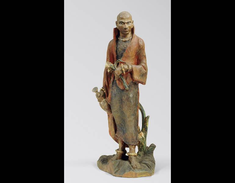 Priest of Brahmanism, 1914. Satō Chōzan (1888–1963). Wood with polychromy; H. 63.9 cm (with base). Tokyo National Museum, C-1501