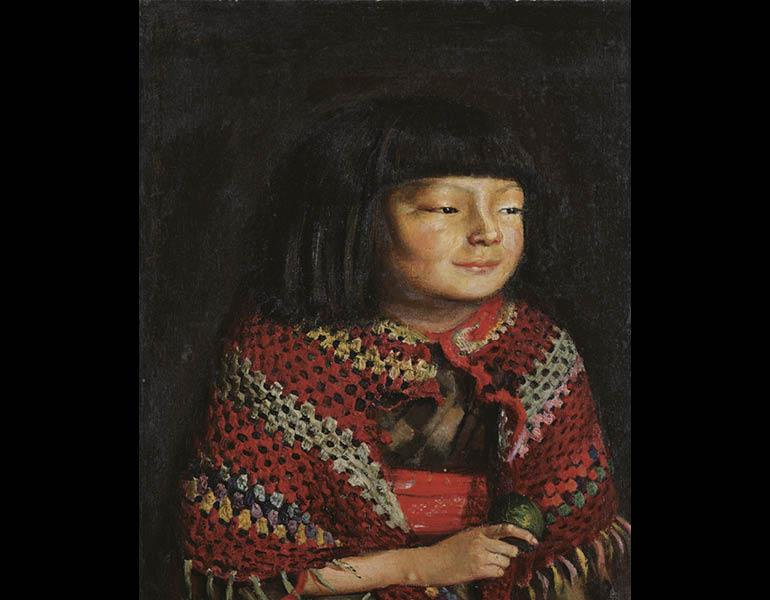 Portrait of Reiko, 1921. Kishida Ryusei (Japanese, 1891–1929). Oil on canvas; 48.3 x 55.9 cm. Tokyo National Museum (A-10568)