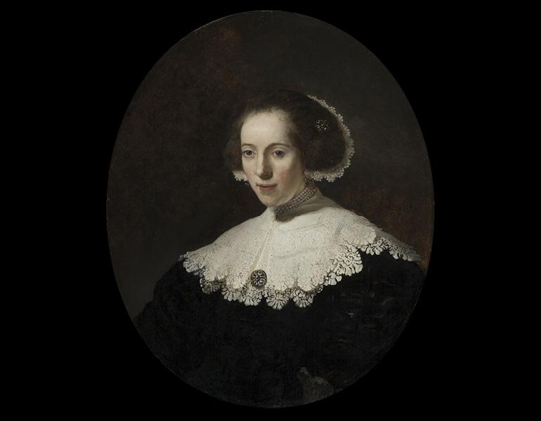 Portrait of a Woman, 1635 or earlier. Rembrandt van Rijn (Dutch, 1606–1669) and workshop. Oil on wood; 77.5 x 64.8 cm. The Cleveland Museum of Art, The Elisabeth Severance Prentiss Collection 1944.90. Image © The Cleveland Museum of Art