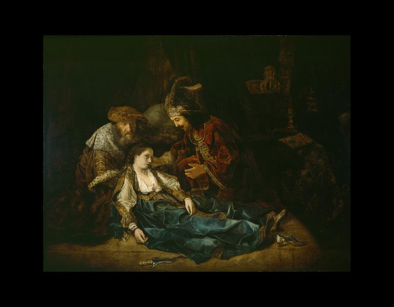 The Death of Lucretia(?), about mid-1640s. Follower of Rembrandt van Rijn. Oil on canvas; 174 x 219.7 cm. The Detroit Institute of Arts, Gift of James E. Scripps 89.44. Image: The Bridgeman Art Library Nationality