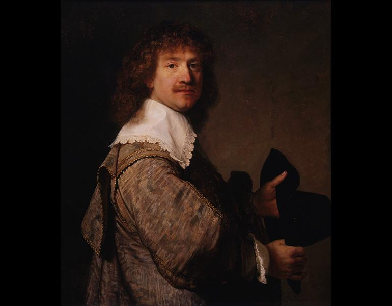 Portrait of a Man Holding a Black Hat, about 1639. Rembrandt van Rijn (Dutch, 1606–1669). Oil on wood; 79.5 x 69.4 cm. The Armand Hammer Collection, Los Angeles, Gift of the Armand Hammer Foundation AH.90.59. Photo: Robert Wedemeyer