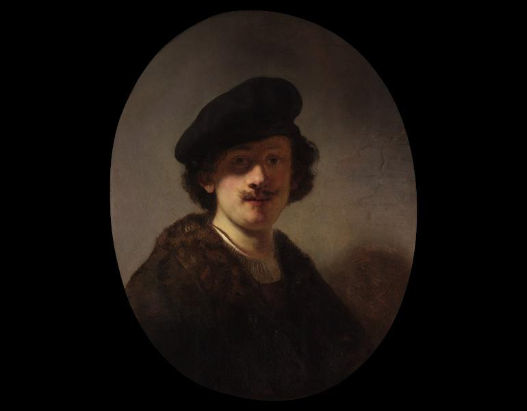 Self-Portrait with Shaded Eyes, 1634. Rembrandt van Rijn (Dutch, 1606–1669). Oil on wood; 70.8 x 55.2 cm. Private collection, New York