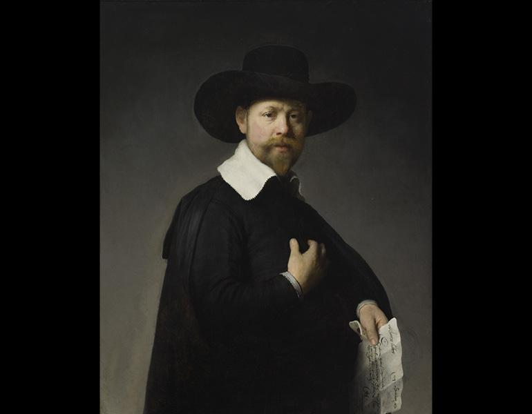 Portrait of Marten Looten, 1632. Rembrandt van Rijn (Dutch, 1606–1669). Oil on wood; 92.7 x 76.2 cm. Los Angeles County Museum of Art, Gift of J. Paul Getty 53.50.3. Image © 2009 Museum Associates/LACMA/Art Resource, NY