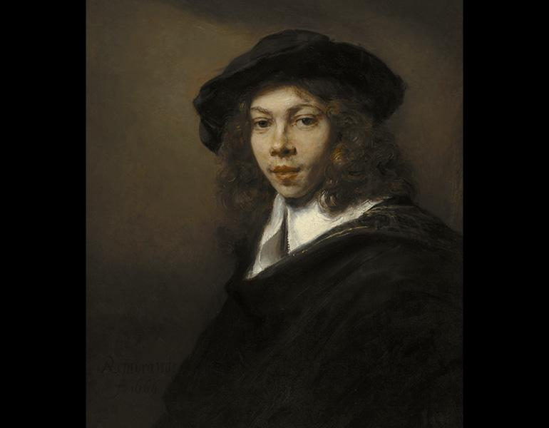 Portrait of a Young Man, 1666. Rembrandt van Rijn (Dutch, 1606–1669). Oil on canvas; 71.6 x 62.8 cm. The Nelson-Atkins Museum of Art, Kansas City, Missouri (Purchase Nelson Trust) 31-75. Photo: Jamison Miller