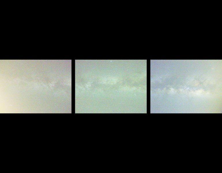 Milky Way (RGB), 2013. Aaron Rothman (American, b. 1974). Three inkjet prints; each 99.1 x 132.1 cm. Courtesy of the artist and Rick Wester Fine Art, New York
