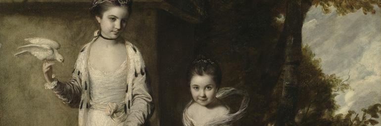 Portrait of the Ladies Amabel and Mary Jemima Yorke (detail), c. 1761. Joshua Reynolds (British, 1723-1792). Oil on canvas; 196 x 170 cm. Bequest of John L. Severance 1942.645