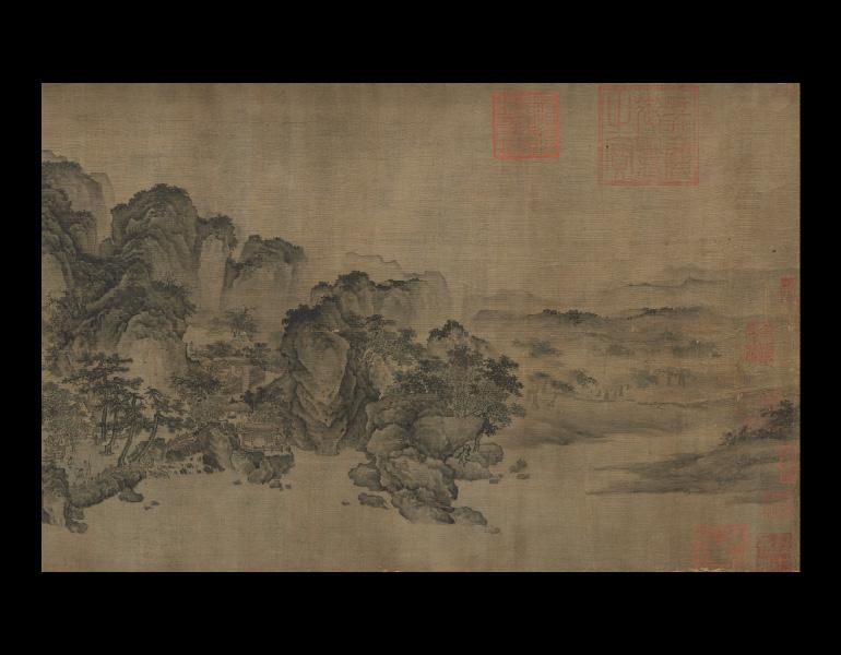 Streams and Mountains without End, 1100–1150. China, late Northern Song or Jin dynasty. Handscroll; ink and slight color on silk; 35.1 x 1103.8 cm. Gift of the Hanna Fund 1953.126