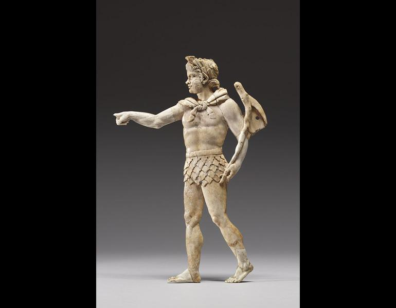 Appliqué of a Satyr, 200–100 BC. Sikeliote (Sicilian Greek). Ivory; 23.3 x 15.8 x 0.9 cm. Courtesy of the Walters Art Museum, Baltimore 71.557. Photo © The Walters Art Museum, Baltimore.