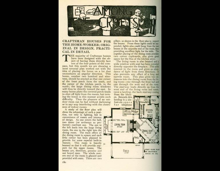 Craftsman Houses for the home-worker; Original in design, practical in detail. From The Craftsman 31 (2), November 1916, pp. 180. IML 977742