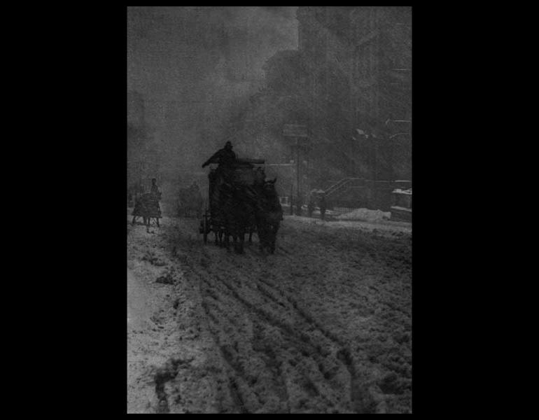 Winter, Fifth Avenue (1892) by Alfred Stieglitz, Camera Work October 1905, 12:7.
