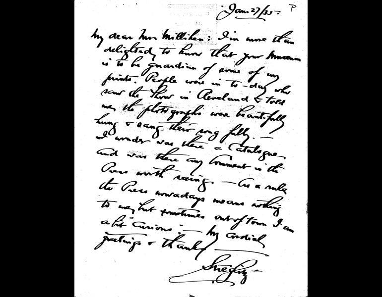Stieglitz letter