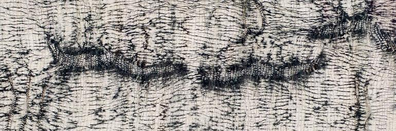 Ori-Kume (detail), Sue Cavanaugh, stitch resist shibori