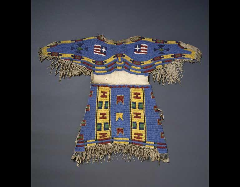 Girl's Dress, about 1895. Teton Sioux (Lakota), North or South Dakota. Thaw Collection, Fenimore Art Museum, Cooperstown, N.Y., T0069. Photograph by John Bigelow Taylor.