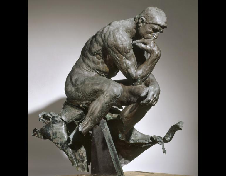 Thinker >> Rodin S The Thinker Cleveland Museum Of Art