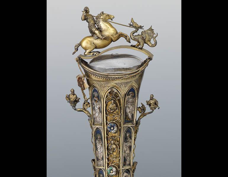 Reliquary of the Arm of Saint George (Interior Casing) (detail), before 1204. Byzantine. Silver; 31 x 7.9 cm. Procuratoria della Basilica di San Marco, Venice Santuario 159