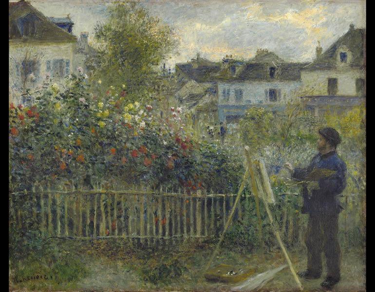 monet painting in his garden at argenteuil 1873 pierre auguste renoir french 18411919 oil on canvas 467 x 597 cm wadsworth atheneum museum of art - Modern Garden